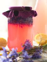 lemoniada blawatkowa, modraki, chabry, napoj fermentowany, naturalna fermentacja, napoj z platow chabra, blawatki, napoje, wspomnienie dziecinstwa, jak u babci