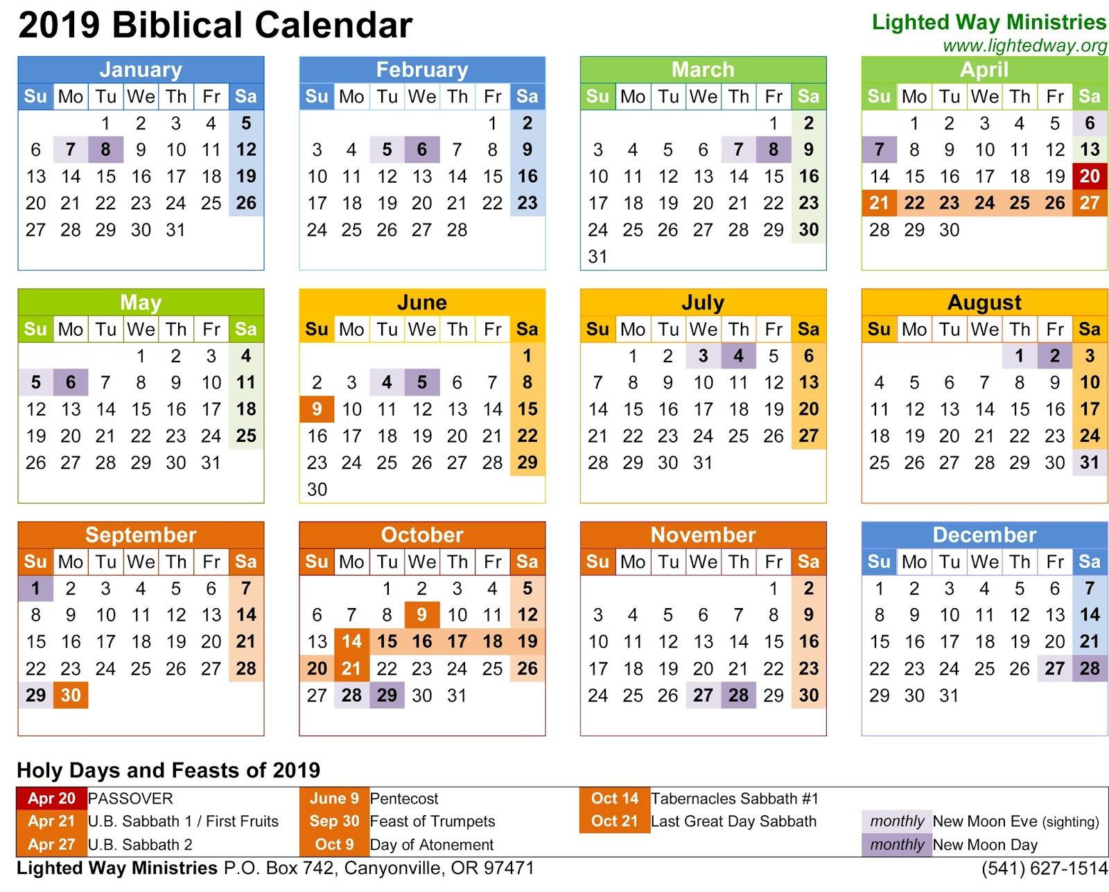 Biblical Calendar.Sky Event 9