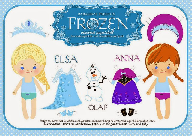 Frozen Bebés: Muñecas Recortables para Imprimir Gratis. | Ideas y ...