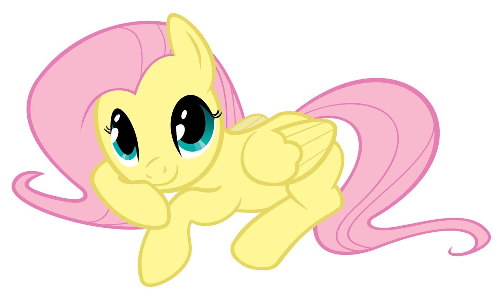 Dibujo De Fluttershy Para Colorear: My Little Pony: Dibujos Para Imprimir Y Recortar De Fluttershy