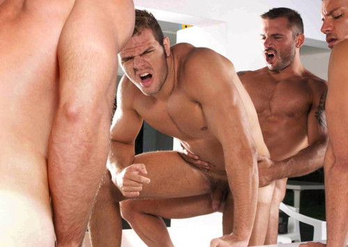 Hot twinks sucking fucking at party