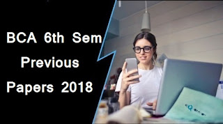 BCA 6th Sem Previous Question Papers 2018 Mdu (Maharishi Dayanand University)