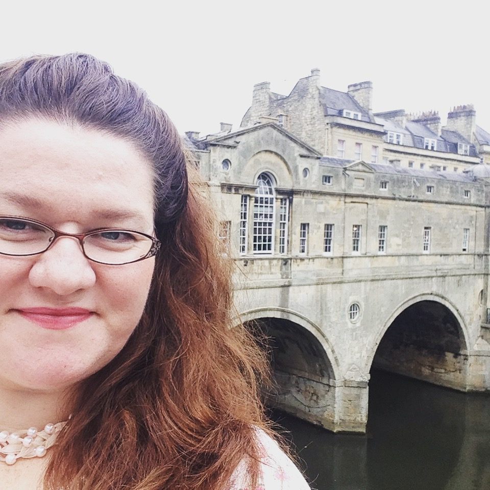 The Author at Pultney Bridge, Bath, England