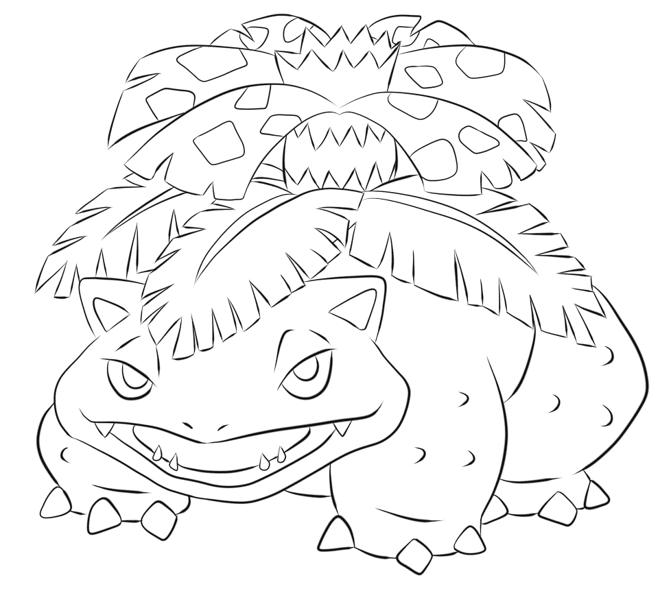 Bulbasaur Coloring Pages Free Pokemon Coloring Pages
