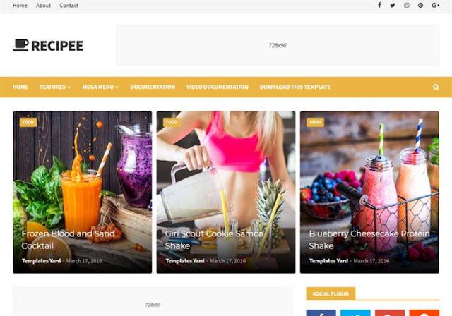 Recipee Blogger Theme