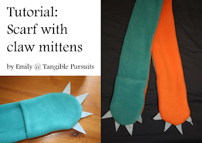 Tutorial: Scarf with Claw Mittens