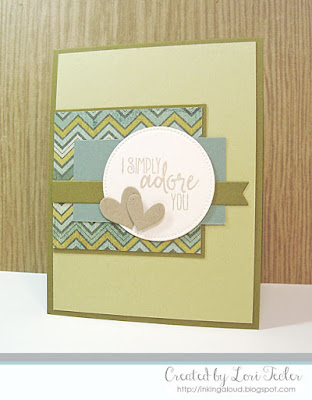 I Simply Adore You card-designed by Lori Tecler/Inking Aloud-stamps from Verve Stamps