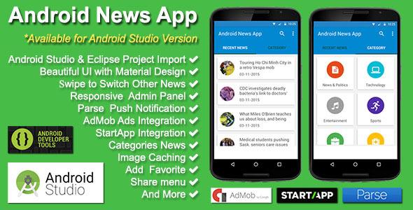 Source Code News App V2 0 0 Android Studio Youtubeers Ind