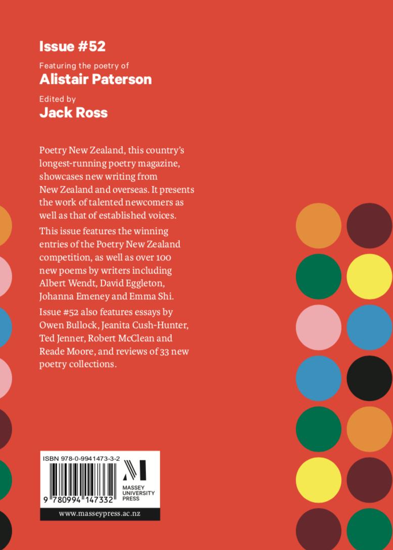 Poetry New Zealand Index: November 2015