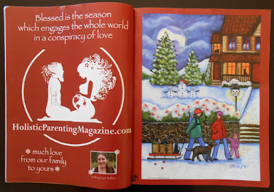 Published Painting, Thank you Holistic Parenting Magazine!