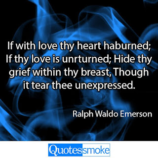 Ralph Waldo Emerson Sad Quote
