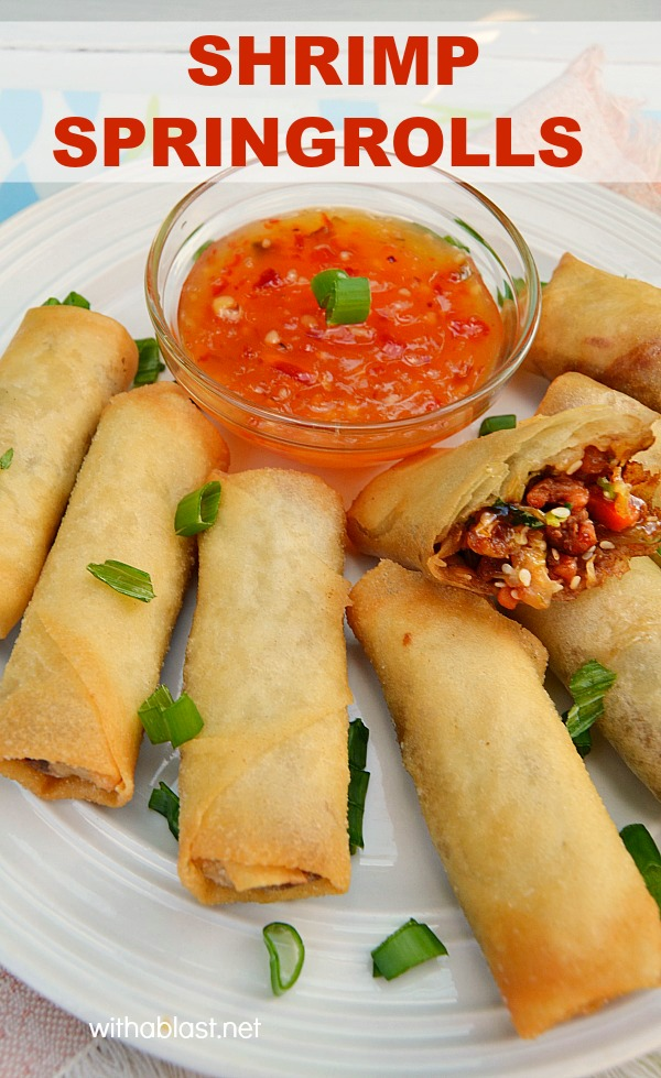 Shrimp Springrolls are so easy to make - perfect appetizer or snack