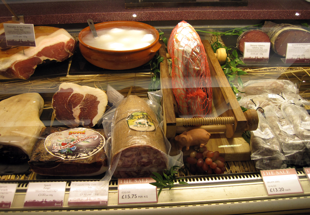 Harrods Food Hall Salami