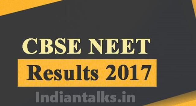 CBSE NEET Results 2017