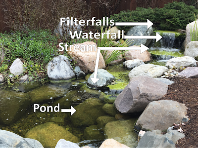 filterfall waterfall stream pond