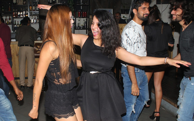 7. Guest grooving on the tunes at Models Night-