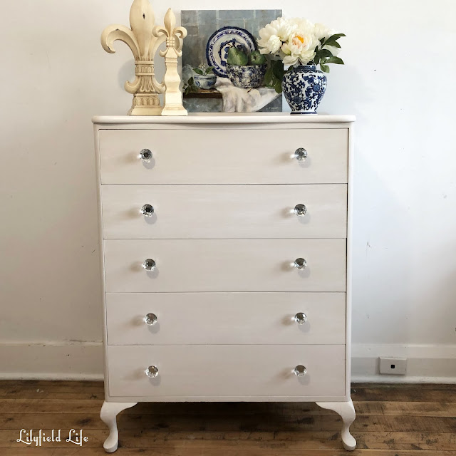 Tall vintage chest of drawers