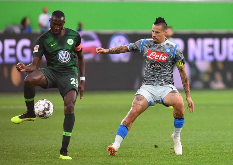 Wolfsburg-Napoli 3-1: segna Milik nella sconfitta in Germania.