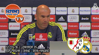 Zidane rueda de prensa Rayo Vallecano - Real Madrid