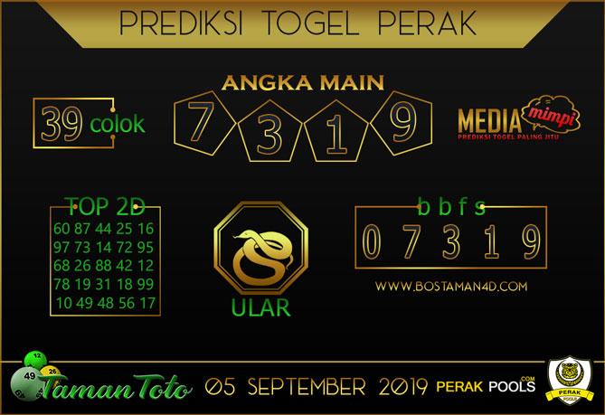 Prediksi Togel PERAK TAMAN TOTO 05 SEPTEMBER 2019