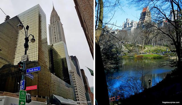 Park Avenue e Central Park, Nova York