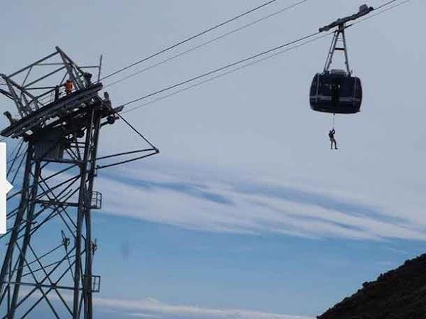 Rescate en  el Teleférico del Teide