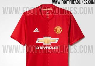 Bocor, Jersey Baru Manchester United Musim 2016-2017
