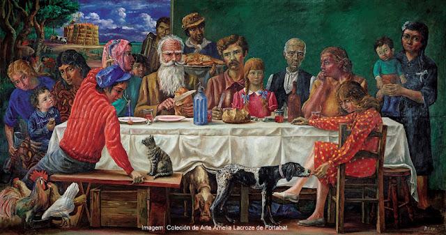 """""""Domingo na Chácara"""", de Antonio Berni, na Coleção de Arte Amalia Lacroze de Fortabat, Buenos Aires"""