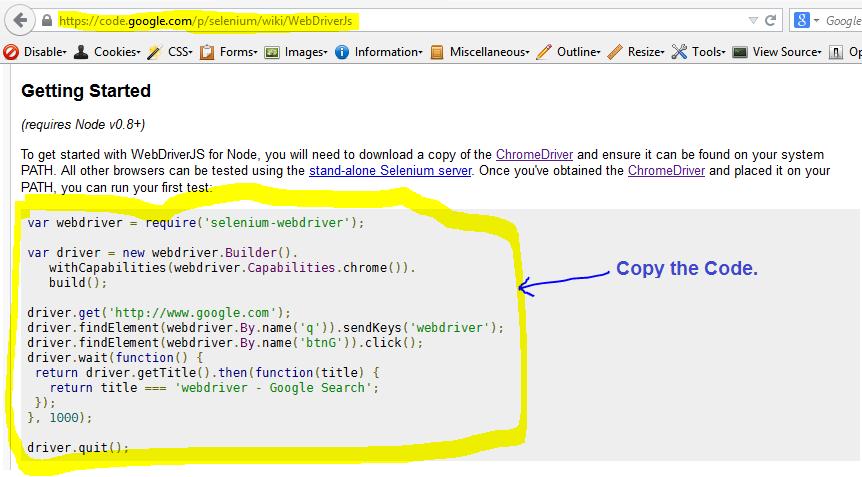 WebdriverJS - JavaScript bindings for WebDriver | Automation