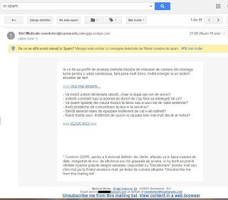 spam stiri medicale