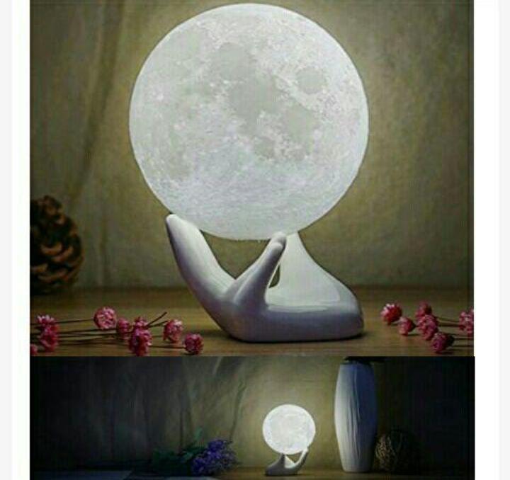 Balkwan Moon Lamp: Rechargeable 3D Lunar Nightlight - Bedside Table LED Light