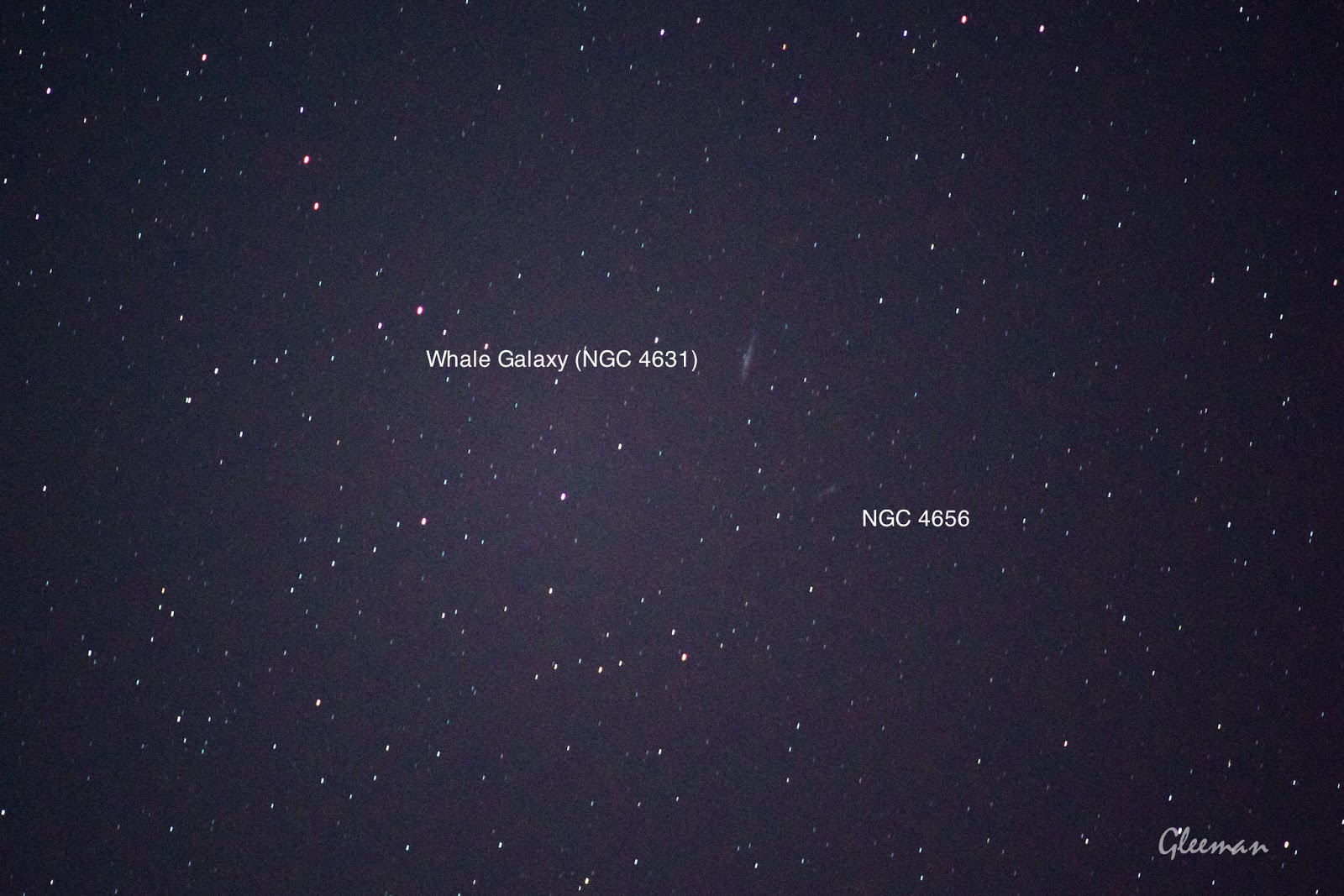 Whale Galaxy, NGC 4656/ Pentax  K5 + Pentax O-GPS1 + DA*200