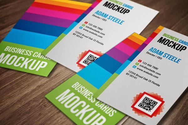 Download ID Card Mockup Gratis - VERTICAL BUSINESS CARD MOCKUP