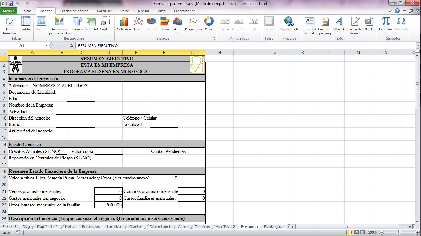 formato de resumen ejecutivo de proyecto formato de resumen