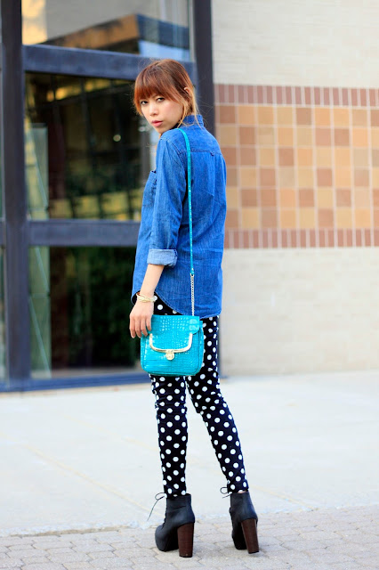 DOTTED PANTS.