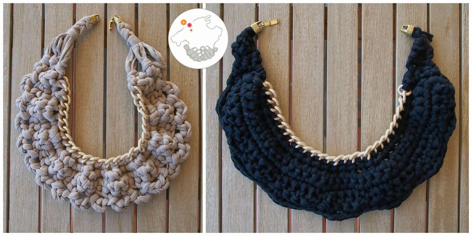 Mallorca Handmade ···: DIY: Patrón para collar de trapillo de ...