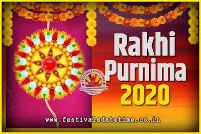2020 Rakhi Purnima Date and Time, 2020 Rakhi Purnima Calendar