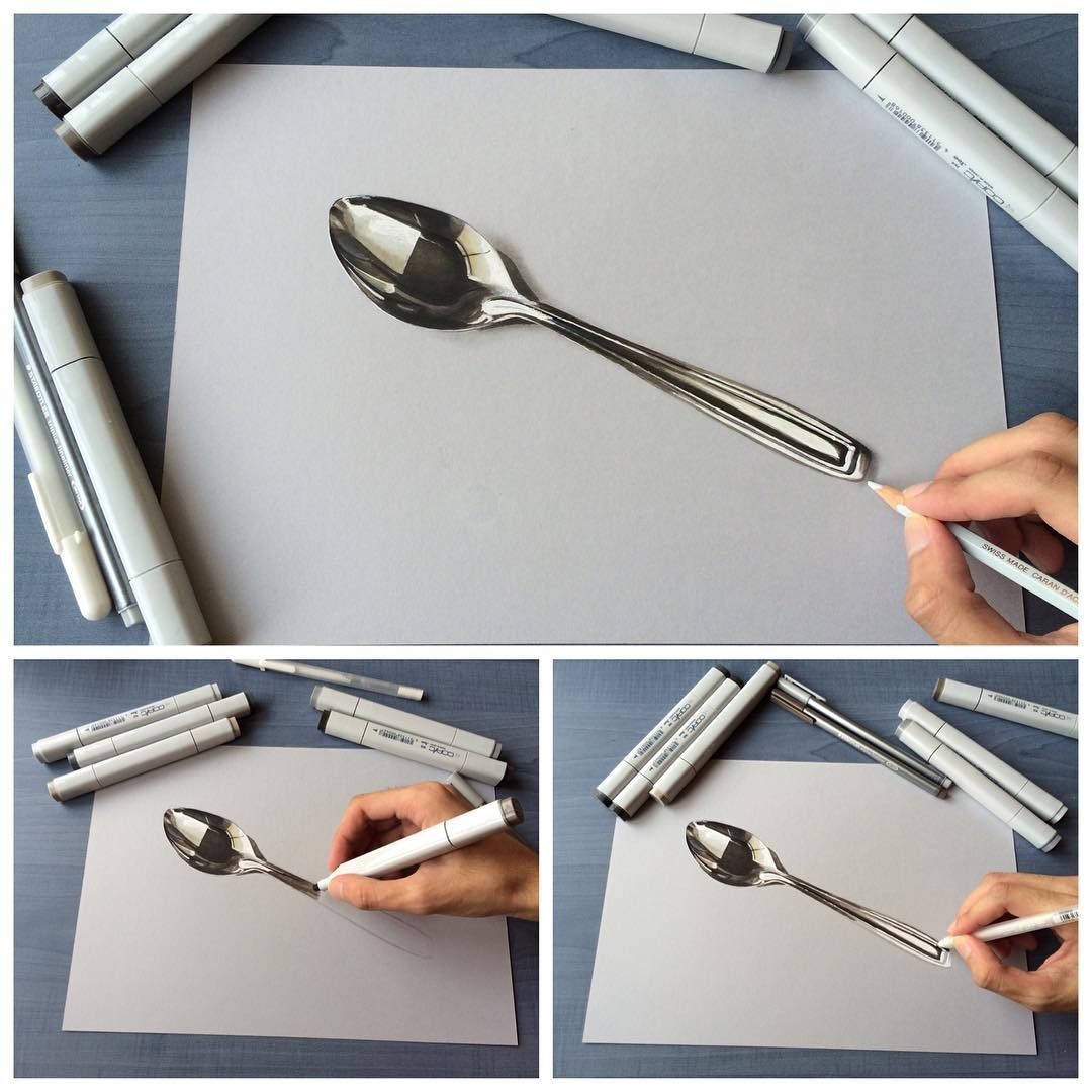 12-Stainless-Steel-Spoon-Sushant-S-Rane-Constructing-3D-Drawings-one-Section-at-the-Time-www-designstack-co