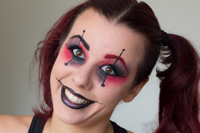 Fall In Love Tag #3: Halloween Harley Quinn makeup