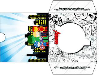 Funda para CD's para imprimir gratis de Los Vengadores Chibi.