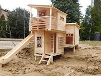 Lombház építése gyerekeknek, makett