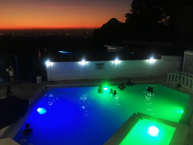 Alysa Private Resort Swimming Pool at Night Antipolo, Rizal