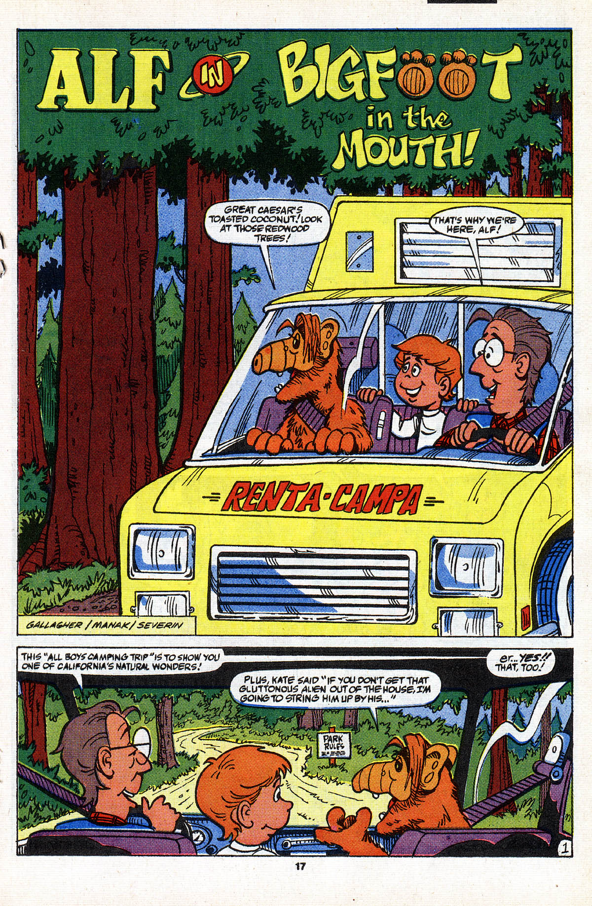 Read online ALF comic -  Issue #28 - 19