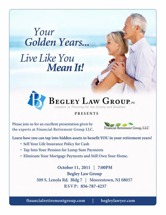 Financial Security - Get the latest news in Finance Begley Law - seminar planning template