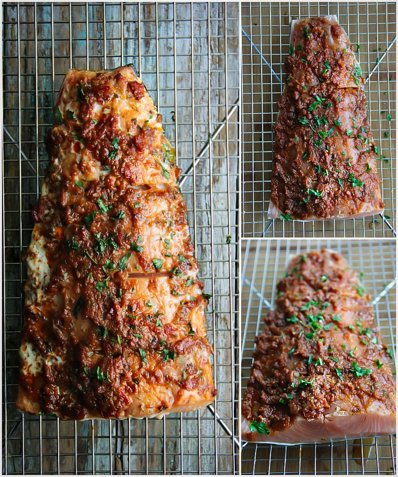 Smoked Sun-Dried Tomato Salmon #recipe