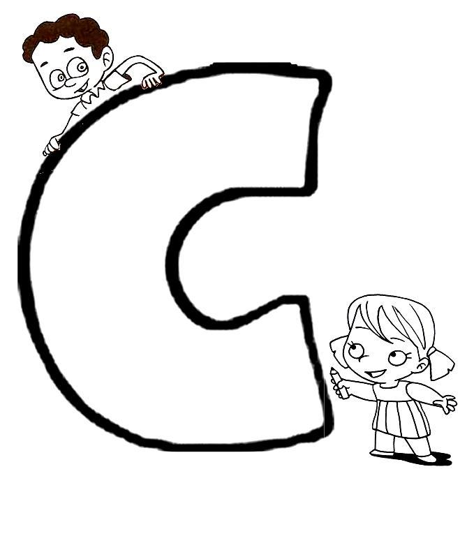 Excelente Letra C Hoja Para Colorear Friso - Páginas Para Colorear ...
