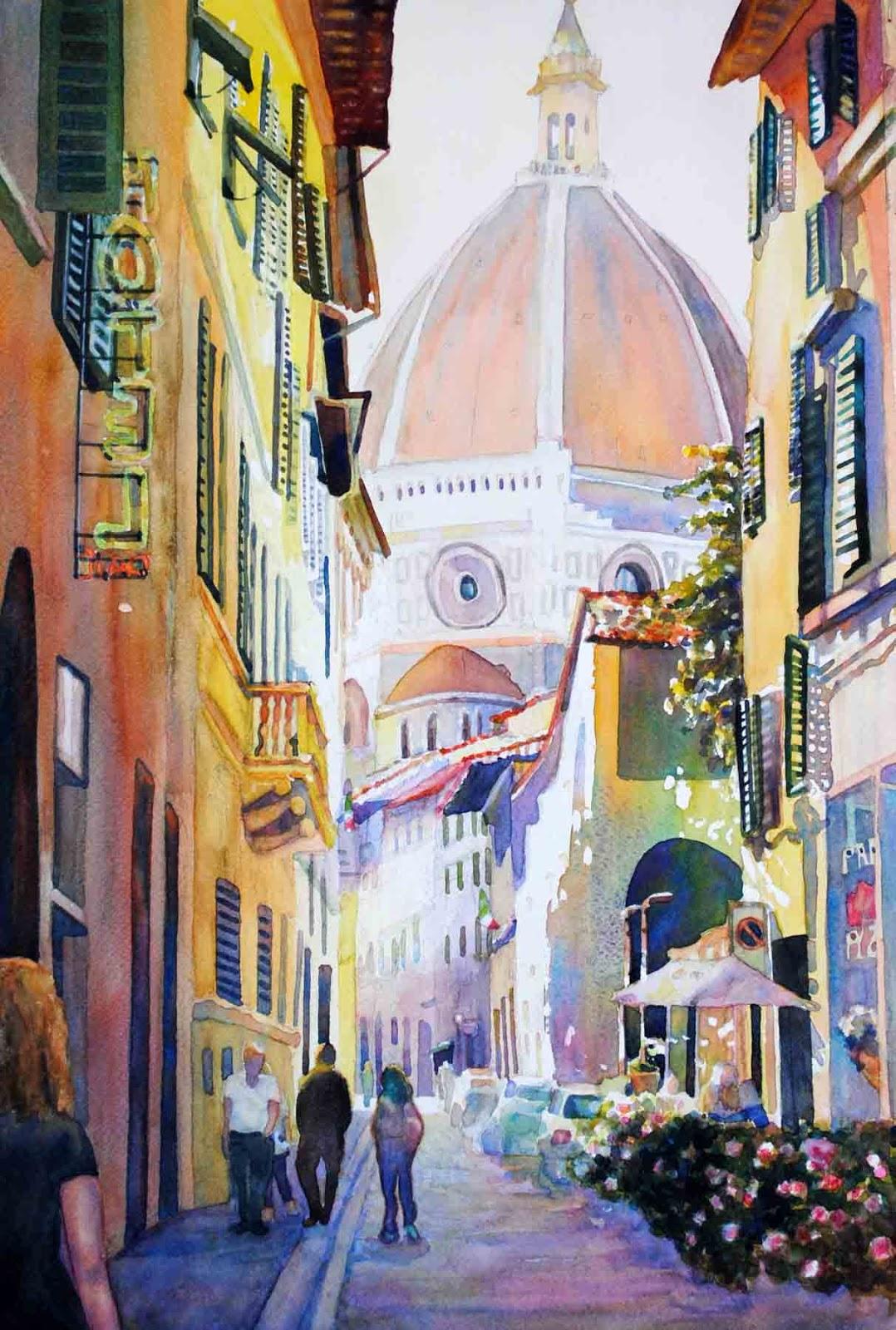 Catherine Hillis Artist In Motion Italian Street Scenes
