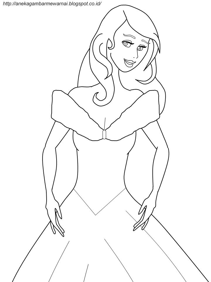 Gambar Mewarnai Cinderella Untuk Anak PAUD dan TK 2