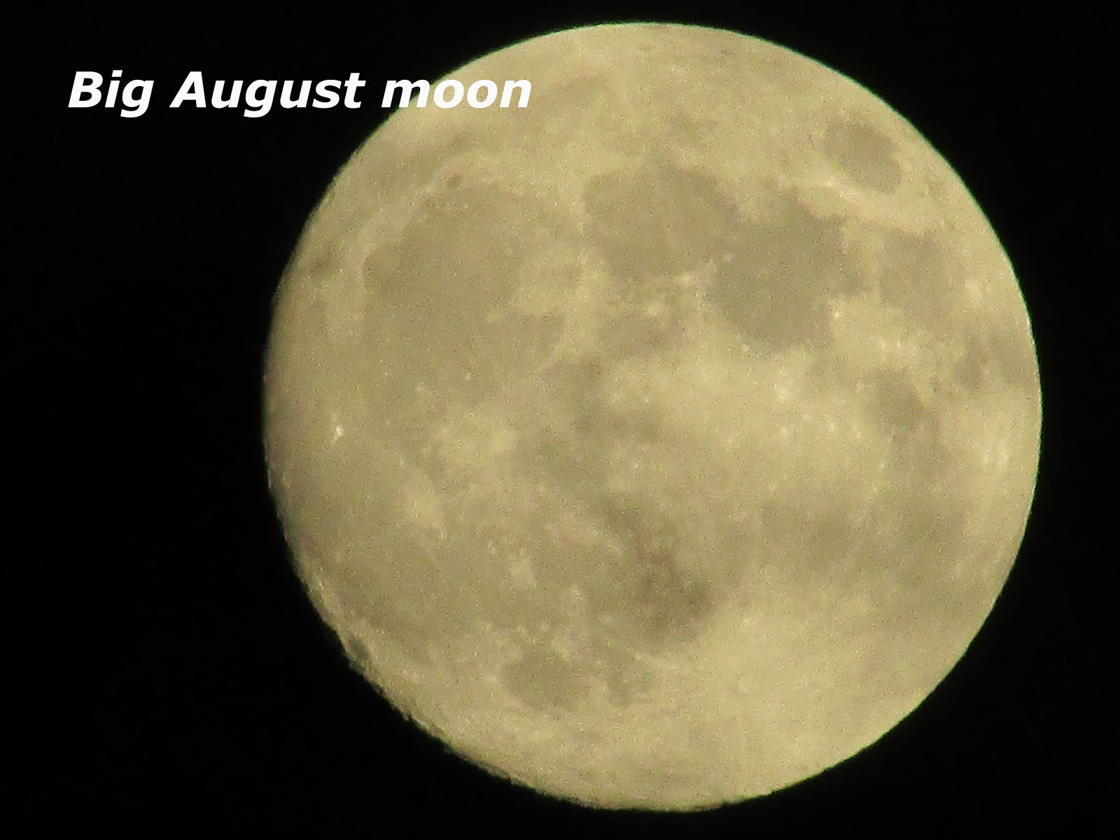 big bright full moon this week