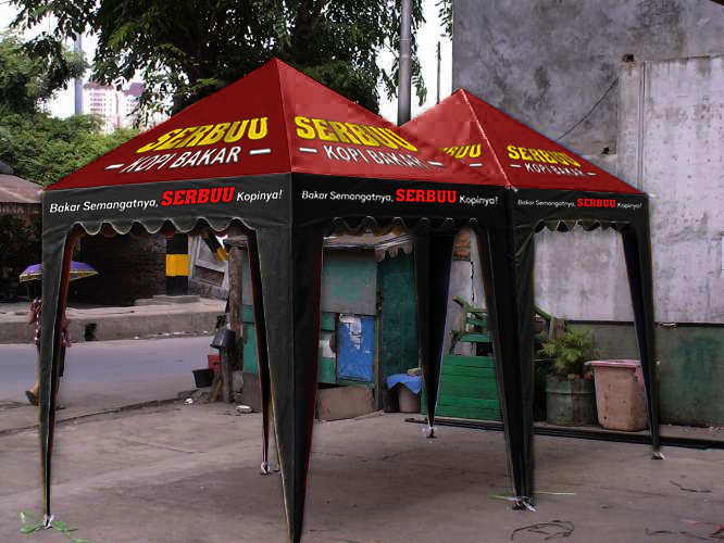 Tenda Piramid Kopi bakar